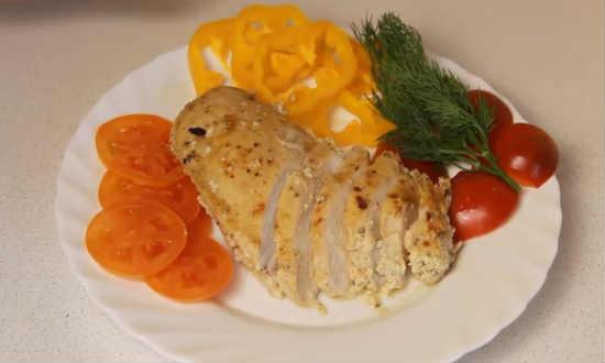 Сервируем блюдо овощами