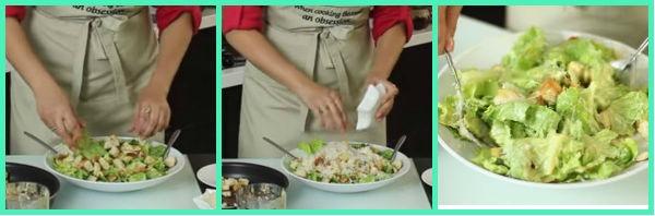 Салат Цезарь, классический рецепт с сухариками в домашних условиях + видео