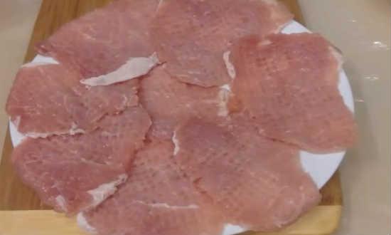 свинину подготовили