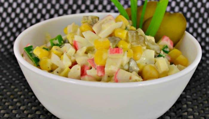 Рецепт салатов из крабовых палочек простые