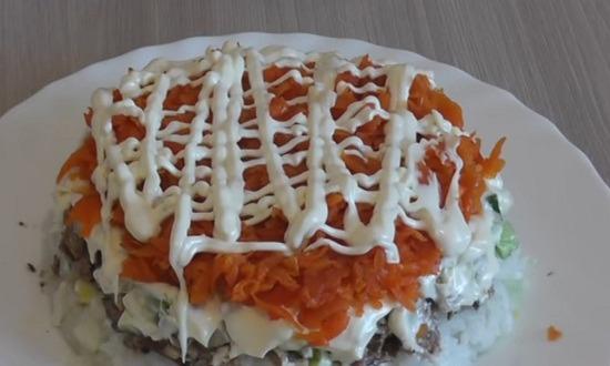 морковь, майонез