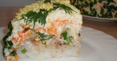 Салат Мимоза с консервированной горбушей, классические рецепты с подробным описанием