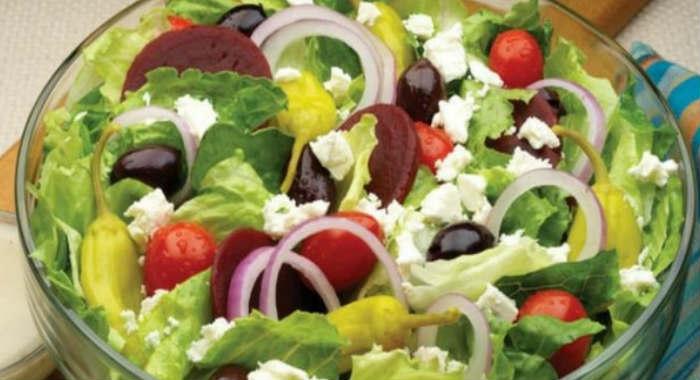Углеводов в греческом салате