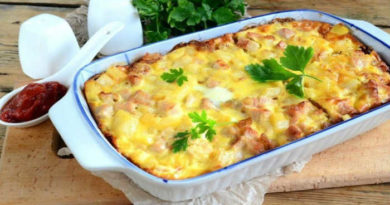 Картофельная запеканка с курицей в духовке