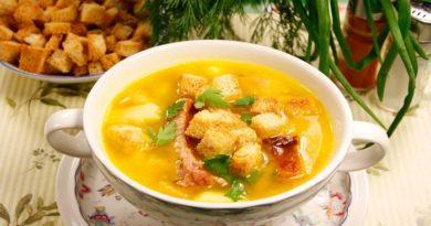 Гороховый суп с копчеными ребрышками - рецепты наваристого, ароматного, вкусного супа