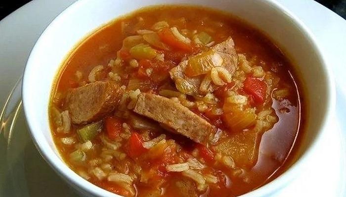 """суп """"Харчо"""" с свининой"""