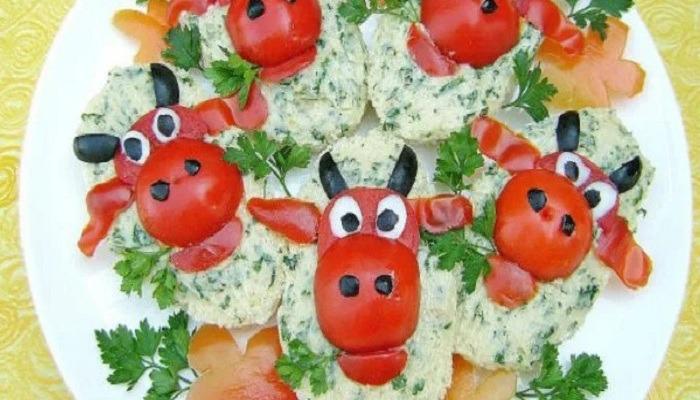 детские праздничные бутерброды