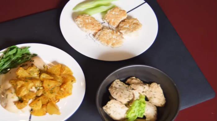Диетическое блюдо из риса и курицы