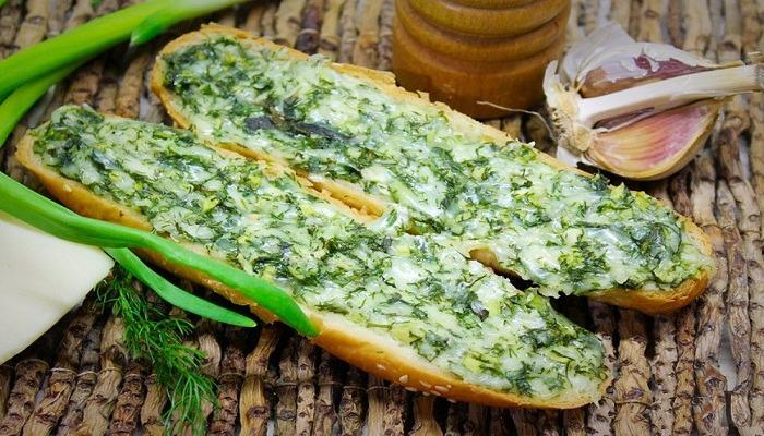 ароматные горячие бутерброды с зеленью