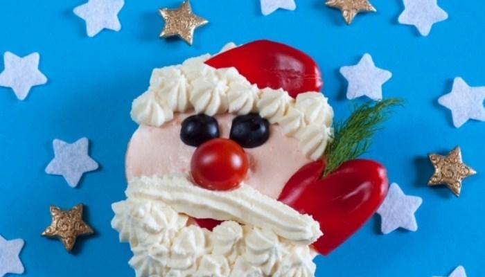 Бутерброд «Дед Мороз»