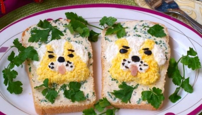 Детские бутерброды «Собачки»