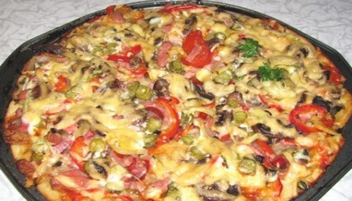 пицца с грибами в духовке