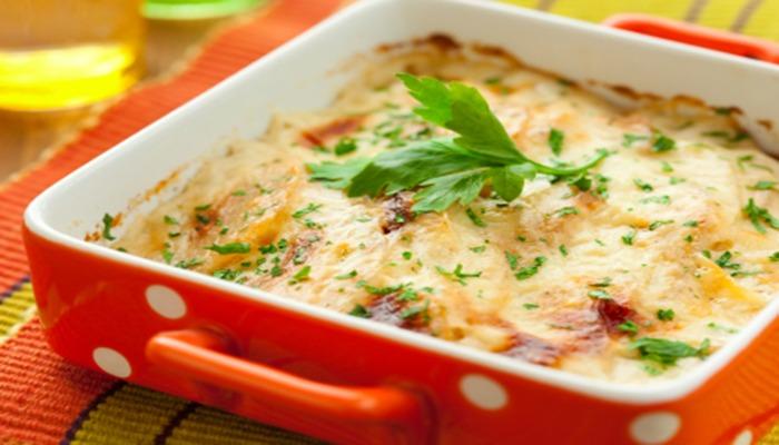 Запеканка картофельная со сметаной