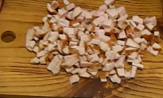 Копчёная грудка кубиками