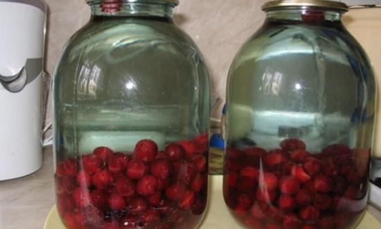 залить кипятком банки с ягодами