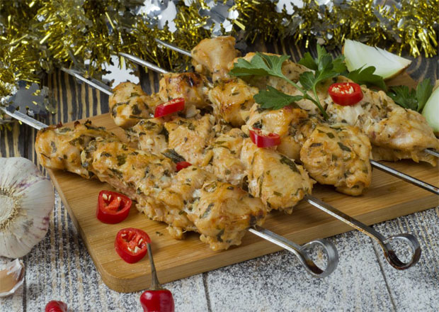 Шашлык из курицы по-армянски