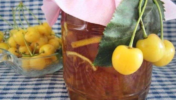 Варенье из черешни с лимоном