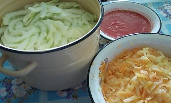 очистить, измельчить овощи