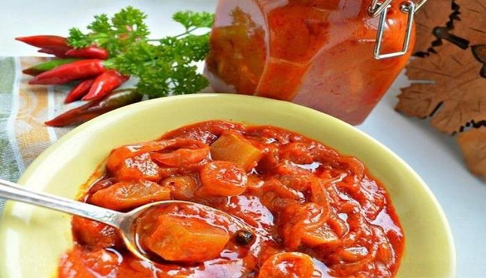 лечо из кабачков и болгарского перца главное