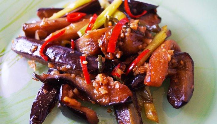 Жареные баклажаны по - китайски, самый простой рецепт