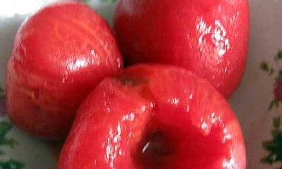 С томатов снимаем кожу