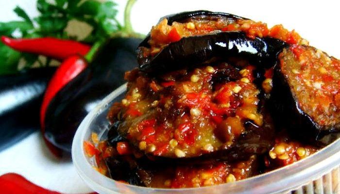 Закуска из баклажан «тёщин язык без варки»