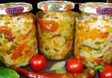 Хрустящий салат из капусты на зиму в банках — рецепты со стерилизацией, пальчики оближешь