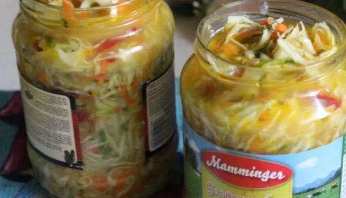 Салат из капусты с огурцами на зиму