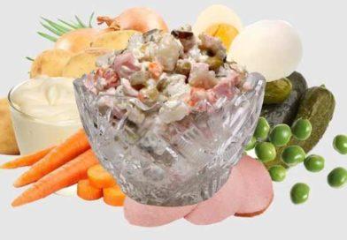 Классический салат оливье — рецепты приготовления с колбасой и солёными огурцами
