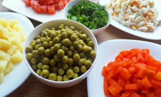Рецепт салат оливье по королевски
