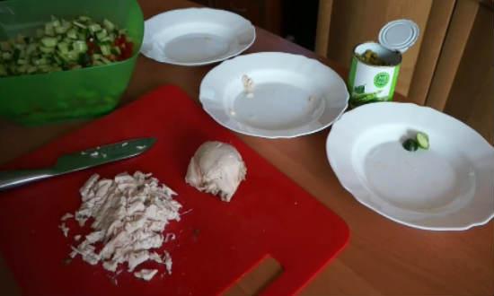 режем курицу