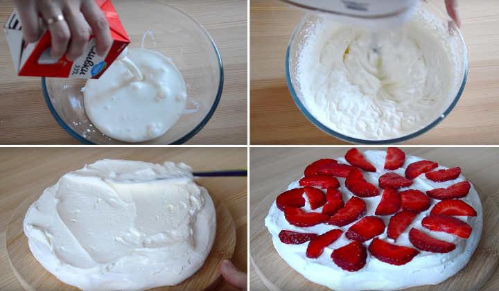 коллаж 3 приготовления торта