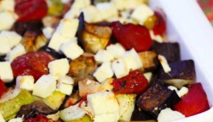 Рагу из кабачков, баклажанов и болгарского перца