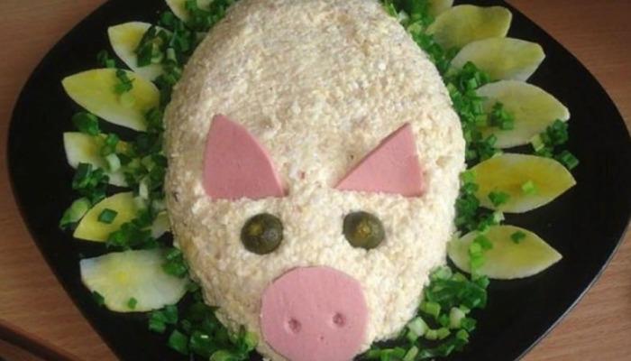 Салат «Свинка»