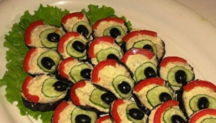 Бутерброды «Павлиний хвост»