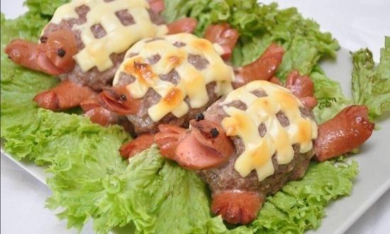 Горячее блюдо «Черепашки»