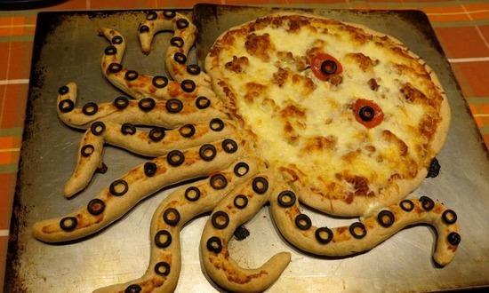 пицца осьминог