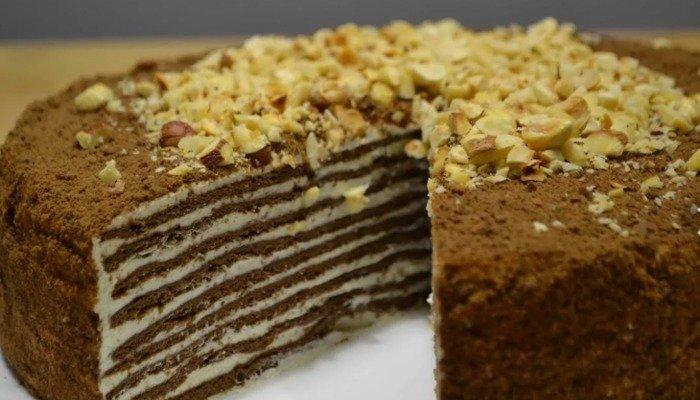 Торт «Спартак» рецепт без меда