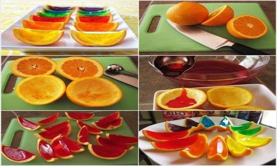 Десерт «Желе в апельсинах»