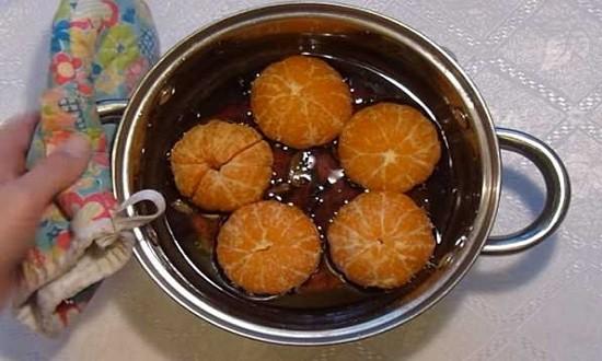 сироп с мандаринами