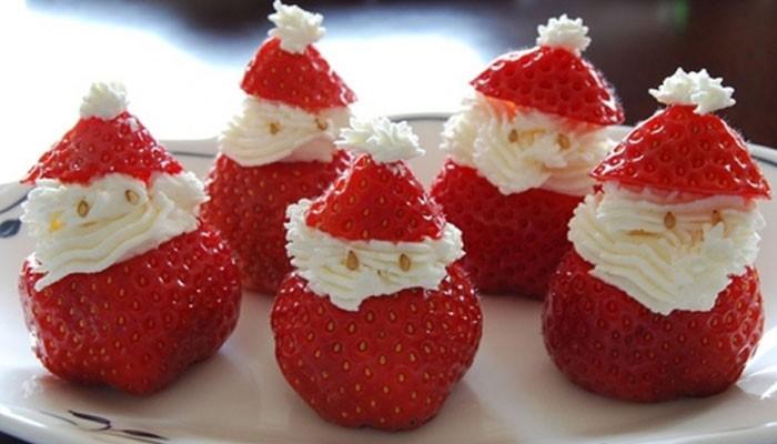 Дед Мороз из клубники