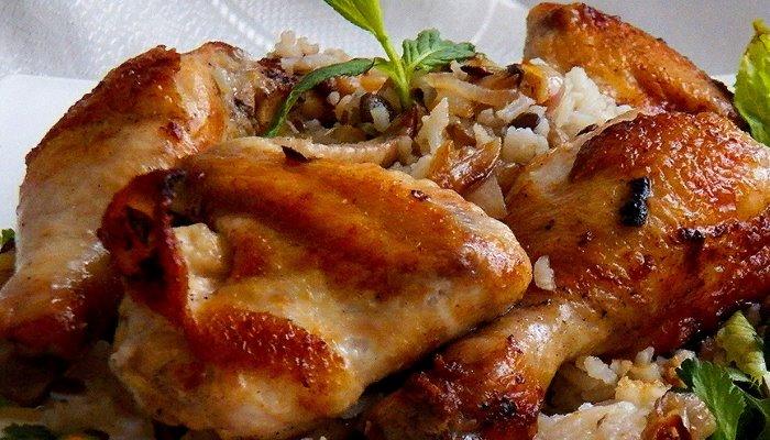 Курица жареная на сковороде
