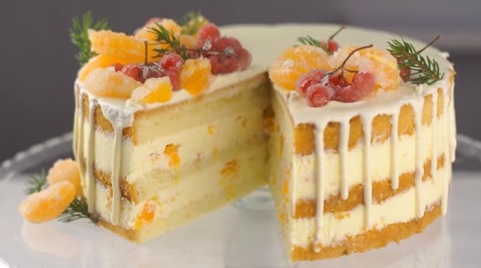 Торт Мандариновый