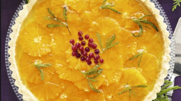 Новогодний мандариновый пирог