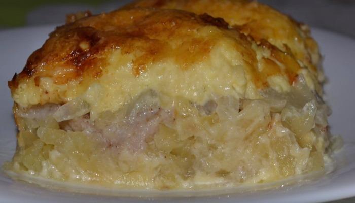 мясо по-французски с курицей