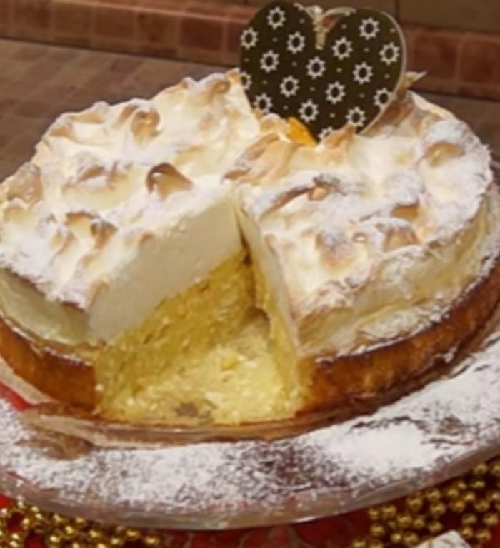 Новогодний творожный пирог