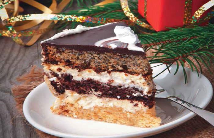 Новогодний торт с маком