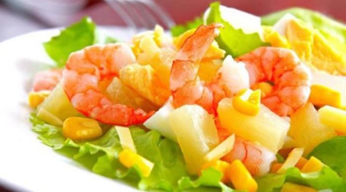 Салат с креветками и ананасом — самые вкусные, простые салаты по домашним рецептам