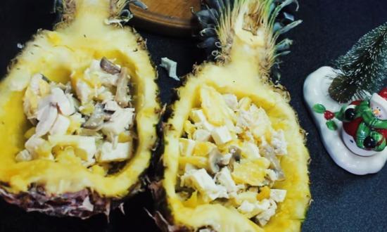 фаршируем ананасы