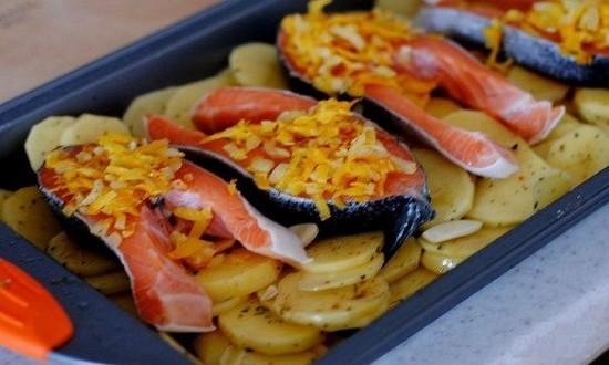 обжаренные овощи на рыбу